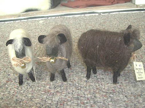 Wool Lambs with Wooden Faces - Roving Sheep